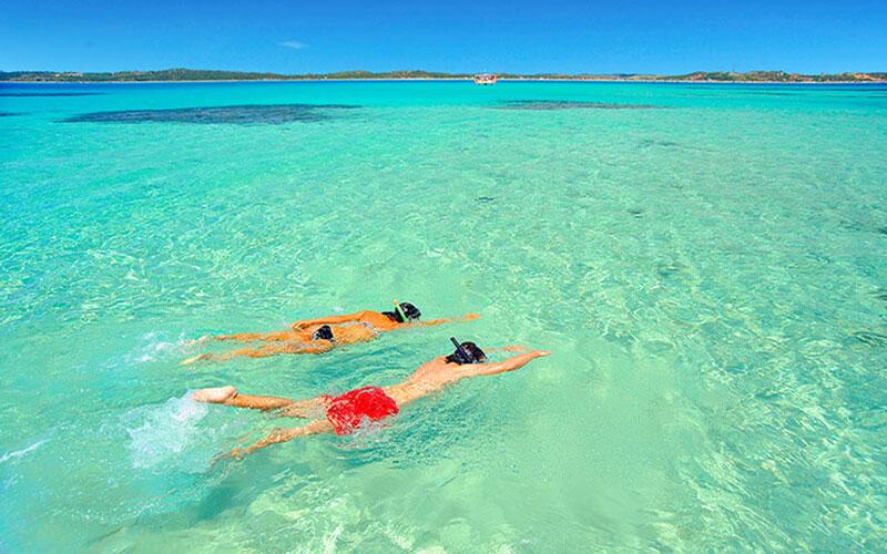 Mergulho piscinas naturais